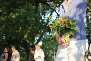 Flower offering.